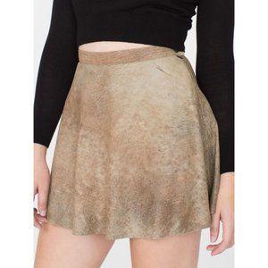 American Apparel 100% Lambskin Mini Circle Skirt